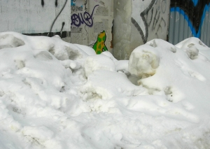 Schneeberg vor Hausbemalung