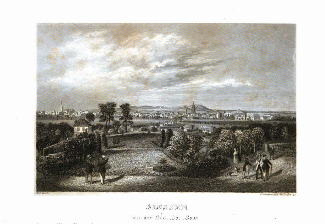 Gießen kupferstich 1841 zum vergrößern anklicken